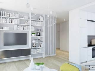 apartament w Warszawie Nowoczesny salon od Twój Kwadrat Nowoczesny
