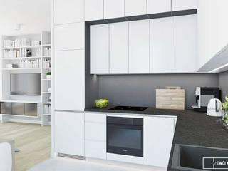 apartament w Warszawie Nowoczesna kuchnia od Twój Kwadrat Nowoczesny