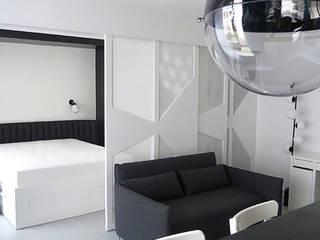 Restructuration appartement Salon minimaliste par Bénédicte Montussac Minimaliste