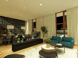 Casa de Campo Salas de estar modernas por TOAR Arquitetura Moderno