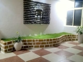 Tanu's Enclosed Terrace Garden:  Terrace by Cherry Garden and Landscapers