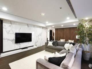 樂宅設計|新店合環御寶|60坪現代風毛胚屋裝修 根據 樂宅設計|系統傢俱