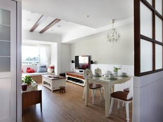 恣意的享受家居生活 弘悅國際室內裝修有限公司 客廳 MDF Grey