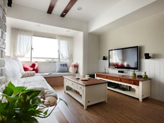 恣意的享受家居生活 弘悅國際室內裝修有限公司 客廳 木頭 Wood effect