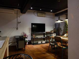 隨意放鬆小酒館的feel 弘悅國際室內裝修有限公司 辦公室&店面 水泥 White