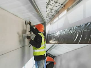 Starting the application of Permasuede:  Office buildings by Marmofin