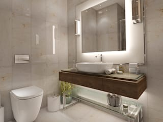 EZGİ AYDOGDU İçmimarlık Danışmanlık ve İnşaat Hiz. – Yalova_Villa_Yatak Odası-2 Banyo:  tarz Banyo