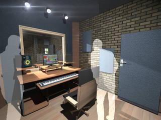 Studio Recording BrAAM: Salas multimedia de estilo  por 440 Taller