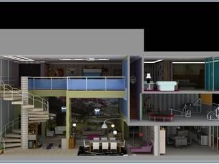Apartamento duplex da Executiva Solteira:   por Ana Farias Home Decor & Family Care,Moderno