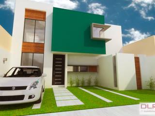 DLR ARQUITECTURA/ DLR DISEÑO EN MADERA Maisons minimalistes Briques Multicolore