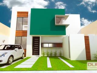 DLR ARQUITECTURA/ DLR DISEÑO EN MADERA Minimalistische Häuser Ziegel Mehrfarbig