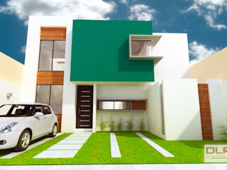 DLR ARQUITECTURA/ DLR DISEÑO EN MADERA Minimalist house Bricks Multicolored