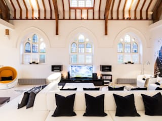 The Church Conversion: modern Living room by Gianna Camilotti Ltd.