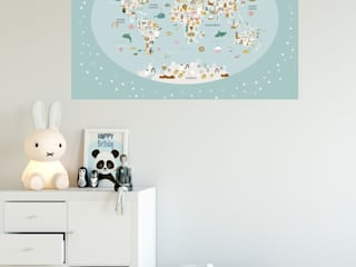 Láminas Infantiles Mapamundi Menudos Cuadros Habitaciones infantilesAccesorios y decoración