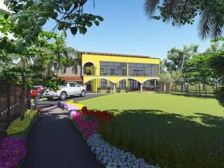 Casco La Antigua : Jardines de estilo  por DAECO