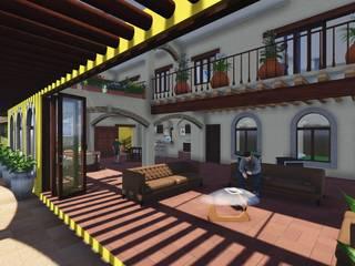 Casco La Antigua : Salas de estilo  por DAECO