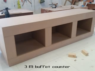Buffet counter: minimalist  by Gurooji Designs,Minimalist