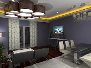 Palacio 2BHK Modern dining room by Gurooji Designs Modern