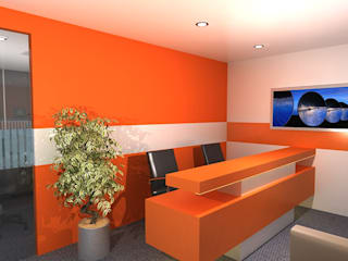 Office Design for Robin singh Modern offices & stores by Gurooji Designs Modern