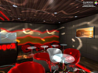 Page 3 Club Modern bars & clubs by Gurooji Designs Modern