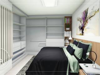 Suíte casal Quartos minimalistas por R.E. Projetos Minimalista