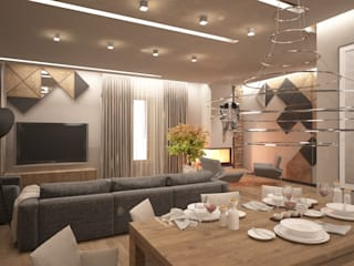 Vesconti_473 кв.м (с дизайн-проектом): Кухни в . Автор – Vesco Construction