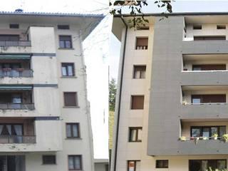 Rehabilitación de fachada FachadasBarcelonaRehabilitacion Casas de estilo moderno