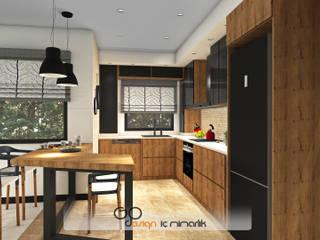 GO Design İç Mimarlık – Didim / Akbük Yazlık Villa Projesi:  tarz Mutfak