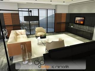 GO Design İç Mimarlık – H. İ. Mermer Ofis Tasarımı:  tarz Ofisler ve Mağazalar