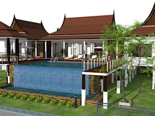 thai modern โดย FULL HOUSE Design