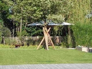 Garten mit Naturpool Garten im Landhausstil von Galabau Michael Richter Landhaus