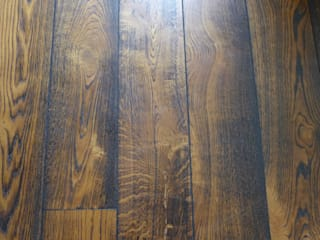 brushed and burned flooring:   by Style Within