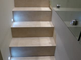 basement conversions Style Within Modern Corridor, Hallway and Staircase Concrete Grey