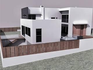 Moradia T3: Casas modernas por Espaços de Mim