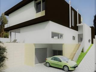 Moradia T4: Casas modernas por Espaços de Mim
