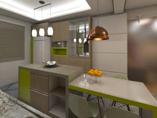 Residência BT. DTE Arquitetura e Consultoria LTDA Cozinhas ecléticas Cerâmica Verde