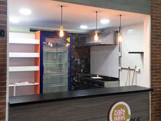 Cafe Plante- U. San Buenaventura  Bogotá.: Locales gastronómicos de estilo  por ProEscala- Arquitectos
