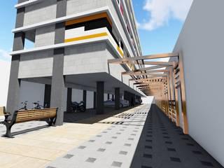 RESIDENCIAL HAB.VR: Garagens e edículas  por DARIO LOBO ARQUITETURA,Moderno