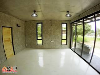 ASAP P17 บ้านชั้นเดี่ยว 2 ชั้น 1 ห้องนอน 2 ห้องน้ำ โดย Asap Home Builder โมเดิร์น