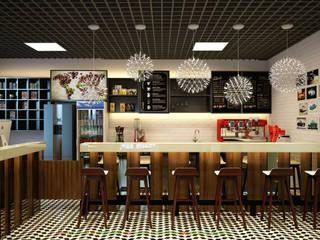 Thiết kế và thi công nội thất quán cafe: hiện đại  by Công ty TNHH Thiết kế và Ứng dụng QBEST, Hiện đại