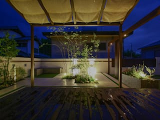 ナイトシーン2: 株式会社 岡本ガーデンが手掛けた庭です。,