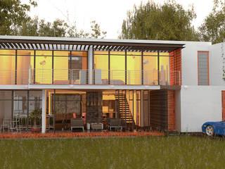 Chalet Sandra Gonzales Casas minimalistas de Castillo Merlin Arquitectura Minimalista
