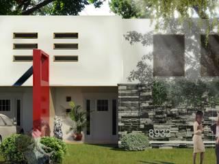 CONJUNTO Col. Niños Heroes Casas minimalistas de Castillo Merlin Arquitectura Minimalista