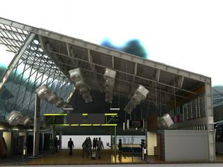 Corte: Aeropuertos de estilo  por Castillo Merlin Arquitectura