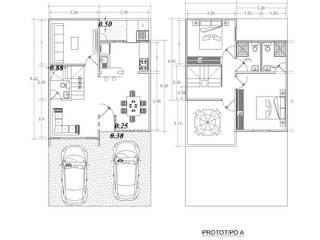 Planta: Casas de estilo minimalista por Castillo Merlin Arquitectura