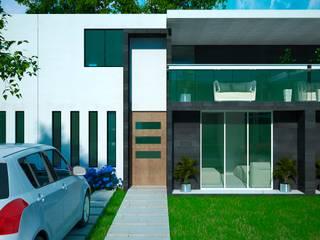 Fachada: Casas de estilo minimalista por Castillo Merlin Arquitectura