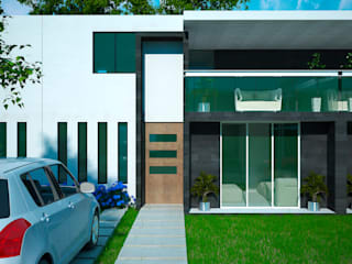 Fachada: Casas de estilo  por Castillo Merlin Arquitectura