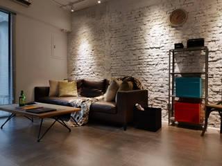 oldthings relive 弘悅國際室內裝修有限公司 客廳 磚塊 White