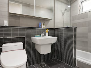 경남 사천시 전원주택: (주)그린홈예진의  욕실,
