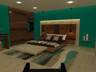 Hotel Riviera Maya Dormitorios minimalistas de Arquitectura Ecologista Minimalista